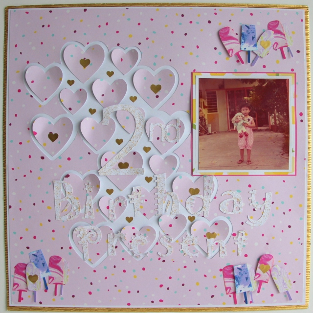 Birthday scrapbook layout