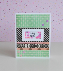 Baby girl Shaker Card