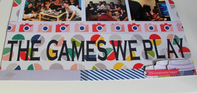 'The games we play' scrapbook layout