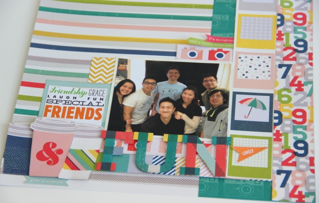 Fun with friends Scrapbook layout