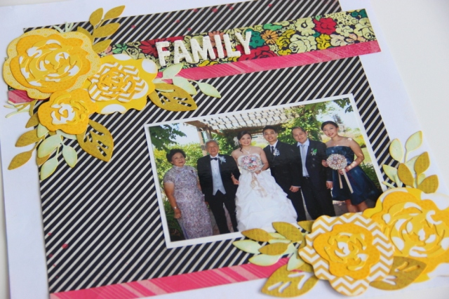 Family -Wedding Scrapbook Layout