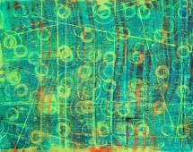 Gelli Plate printing with Ferrero Rocher chocolate box cover and tray