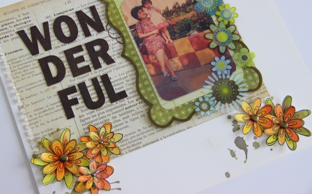 Wonderful Scrapbook Layout
