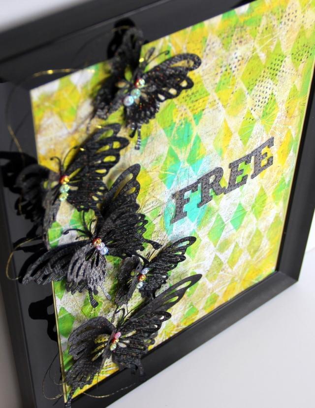 Butterfly free Framed art decor