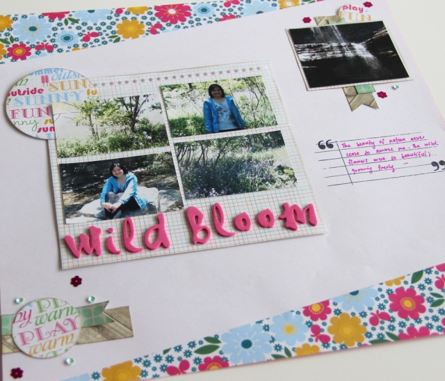 Wild bloom summer scrapbook layout