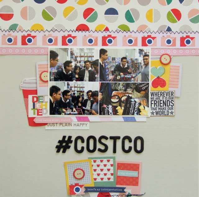 #Costco shopping scrapbook layout