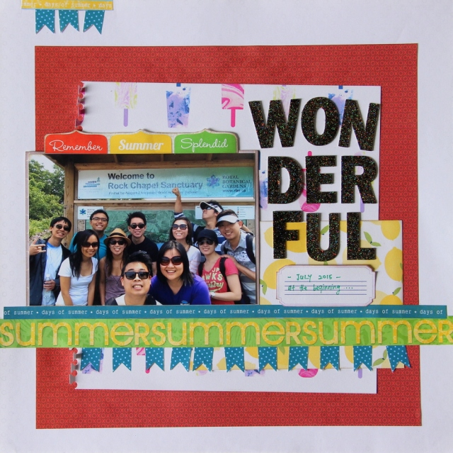 Wonderful Summer Scrapbook Layout