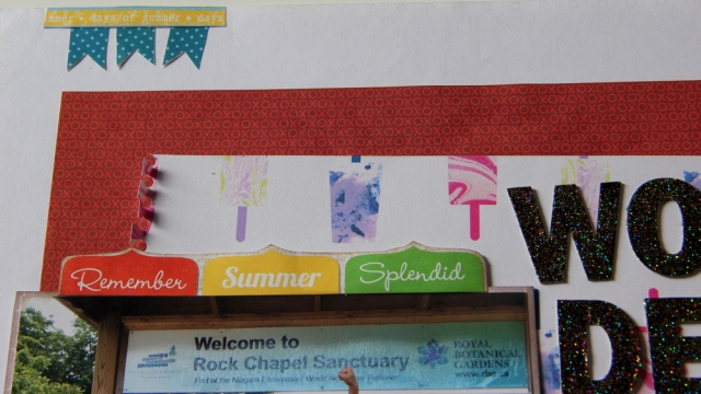 Wonderful Summer Scrapbook Layout close up