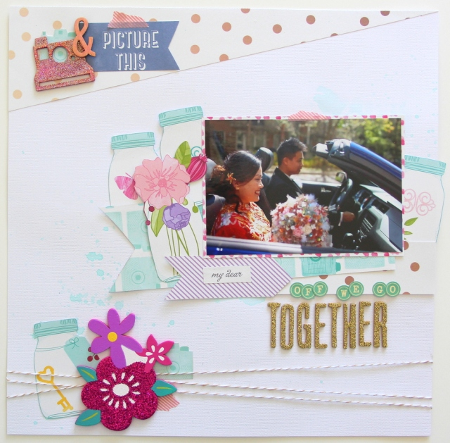 Picture This Wedding Scrapbook Layout