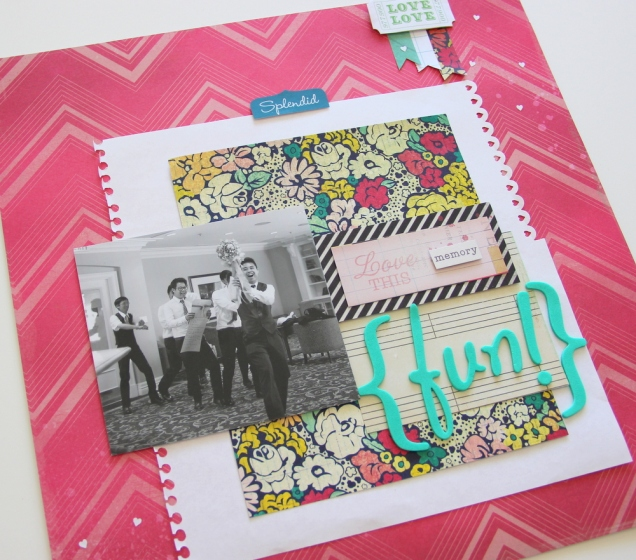 Fun wedding Scrapbook layout