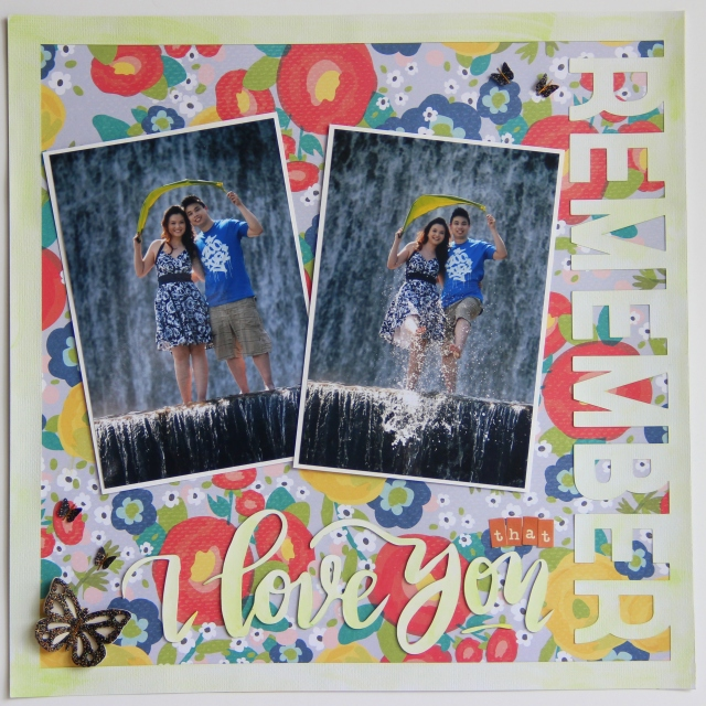 """""""Remember that I love You"""" International Scrapbooking Day 2016"""