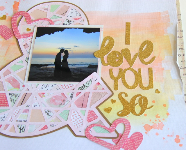 & I love you so Scrapbook layout
