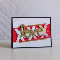 XOXO love card