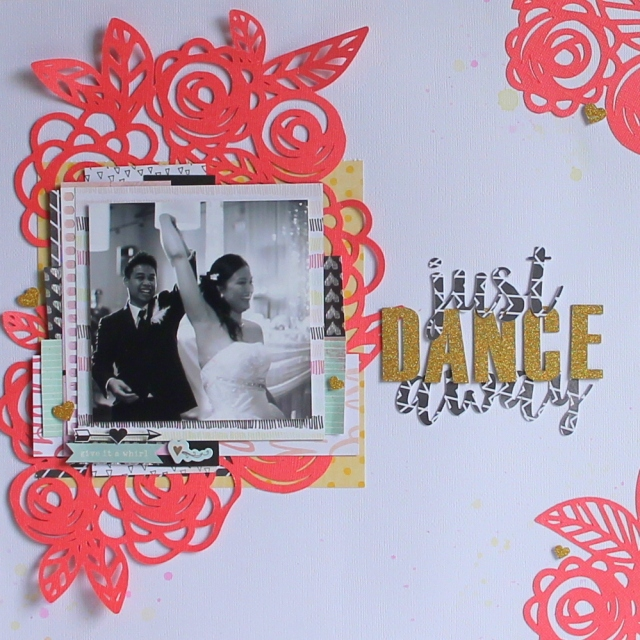 just Dance away Scrapbook layout