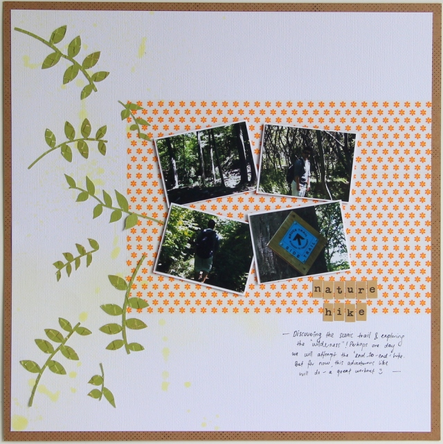 Nature Hike Scrapbook Challenges Scrapbook Layout