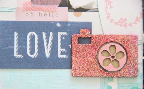 Wedding car Scrapbook layout camera embellishment