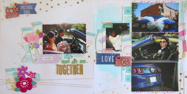 Wedding car Scrapbook layout