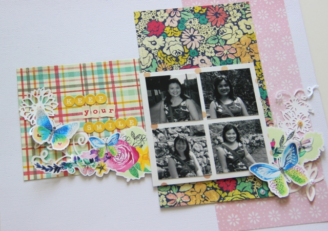 Smile scrapbook layout