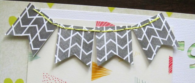 sewn banner spelunking scrapbook layout