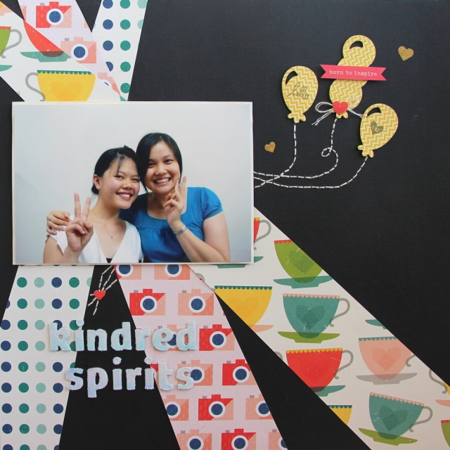 Kindred Spirits Scrapbook layout