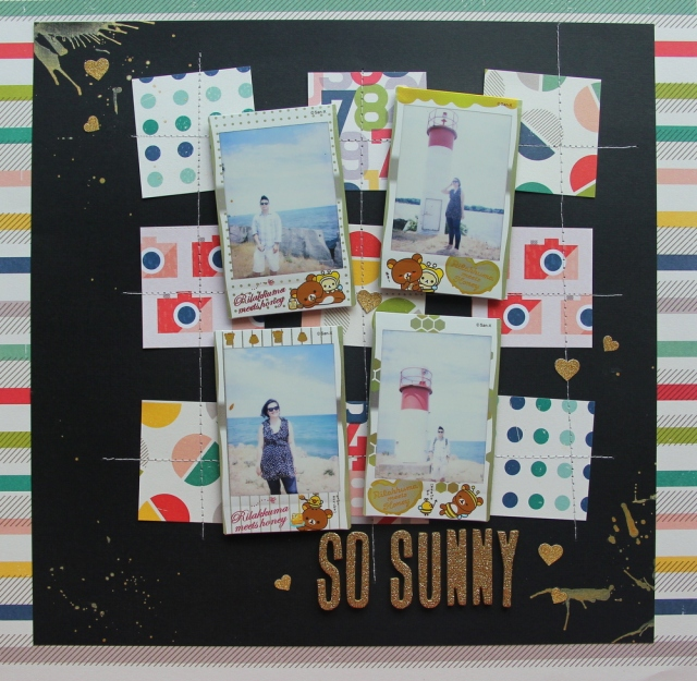 Scrapping more Instax photos (scrapbook layout)