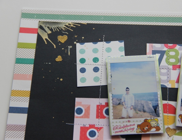So sunny instax photos scrapbook layout close up