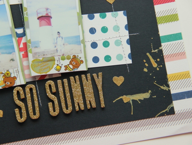 So sunny instax photos scrapbook layout close up