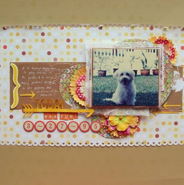 Today was fun Scrapbook layout