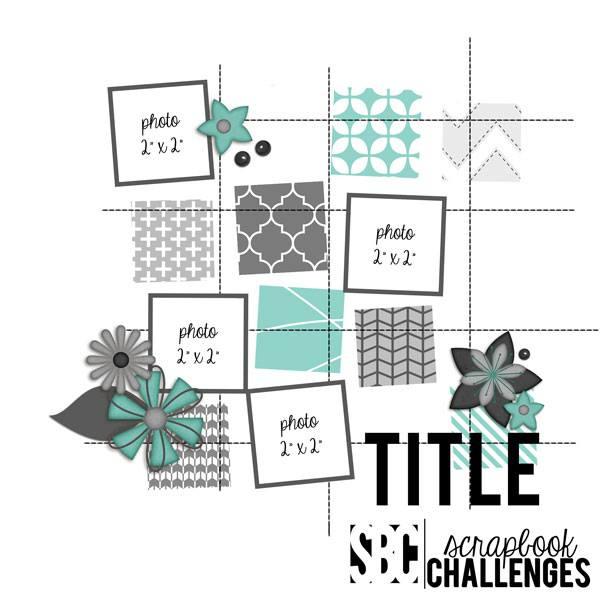 Scrapbook Challenges Sketch 495 Aug 22