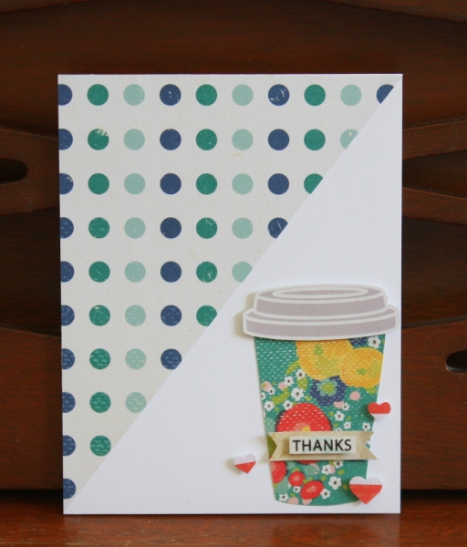 Thank you card using Shimelle True Stories