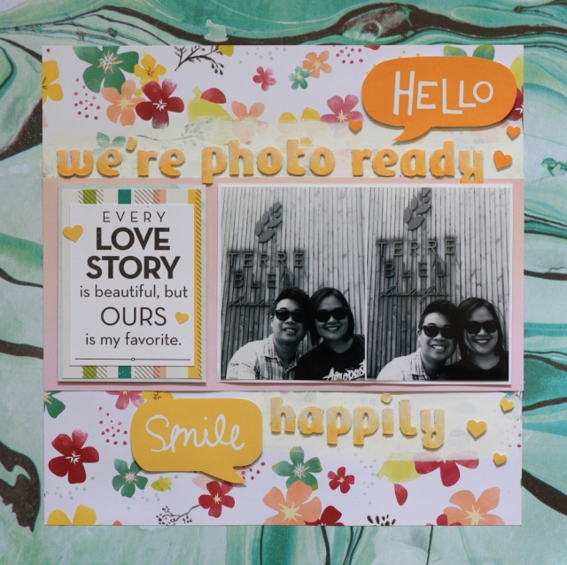photo ready scrapbook layout