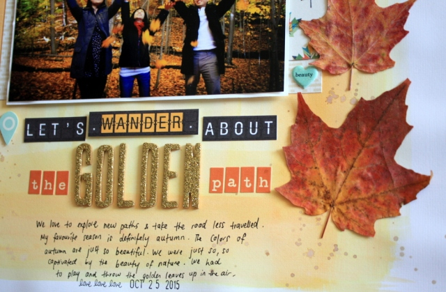 Let's Wander about the golden path Scrapbook Layout