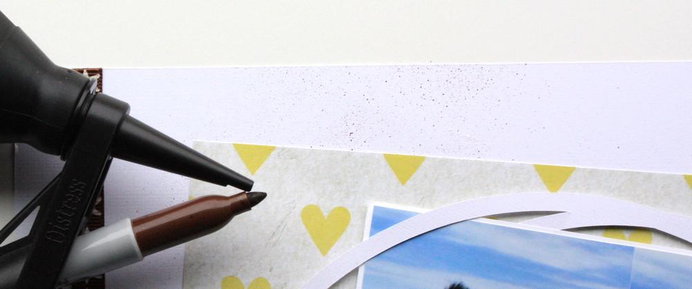 Ink sprays with Tim Holtz Marker Spritzer