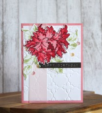 Floral themed cards for birthday