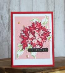 Majestic bloom stamp set for wedding card