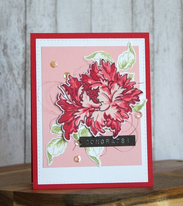 Majestic bloom stamp set for wedding card