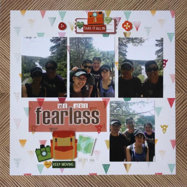 Fearless Scrapbook Layout