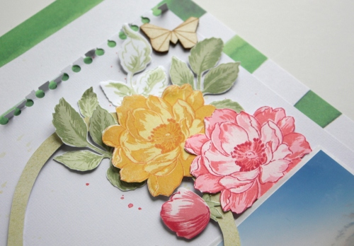 altenew beautiful day stamped flowers