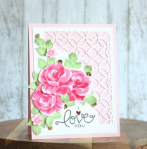 Altenew Vintage Flowers I Love you card