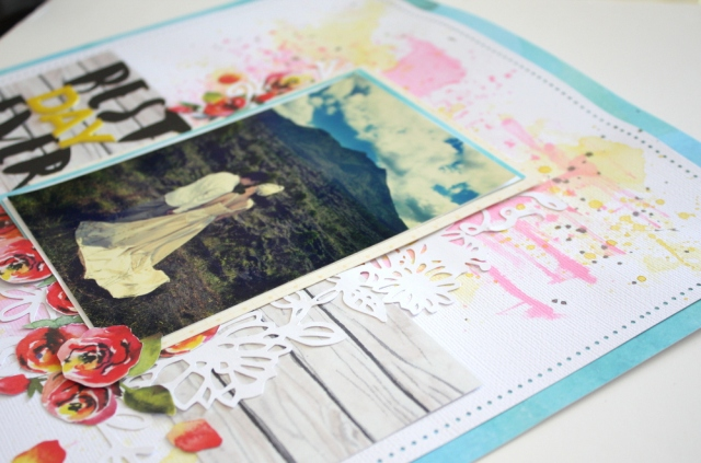 Best day ever scrapbook layout using altenew reflections kit