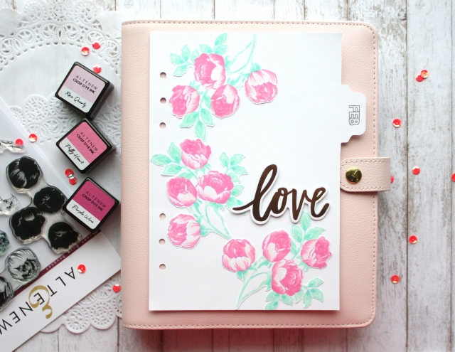 February sweet rose stamp set divider